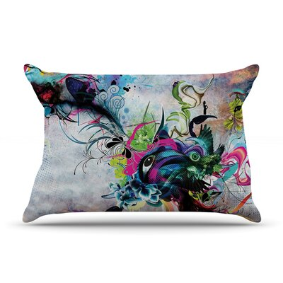 Streaming Eyes by Mat Miller Featherweight Pillow Sham Size: King, Fabric: Woven Polyester