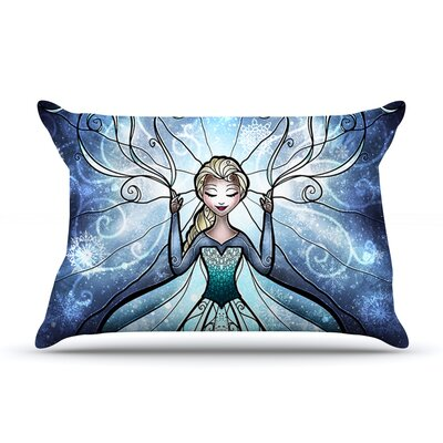 The Snow Queen by Mandie Manzano Featherweight Pillow Sham Size: Queen, Fabric: Woven Polyester