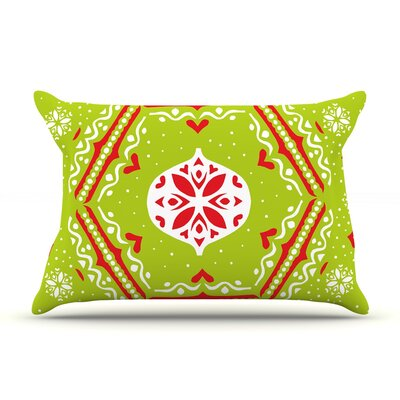 Miranda Mol Snowjoy Green Pillow Case Color: Green