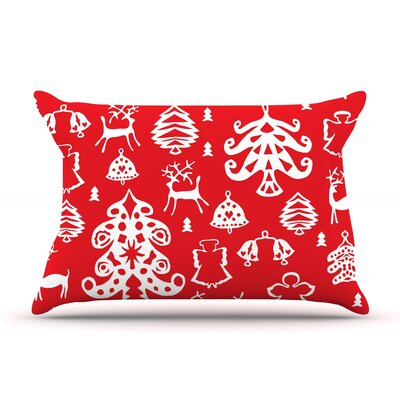 Warm Winter Red by Miranda Mol Featherweight Pillow Sham Size: King, Fabric: Woven Polyester