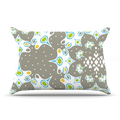 Ornamental Splash Silver by Miranda Mol Featherweight Pillow Sham Size: King, Fabric: Woven Polyester