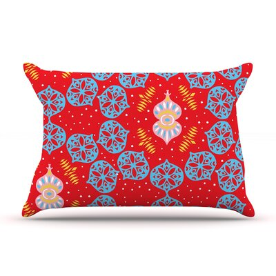 Frosted Red by Miranda Mol Featherweight Pillow Sham Size: King, Fabric: Woven Polyester