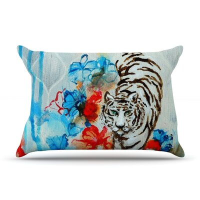 Tiger by Sonal Nathwani Featherweight Pillow Sham Size: King, Fabric: Woven Polyester