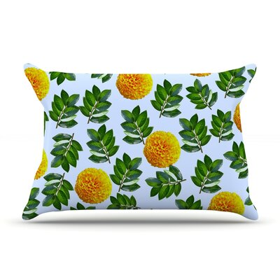More Marigold by Sreetama Ray Featherweight Pillow Sham Size: Queen, Fabric: Woven Polyester