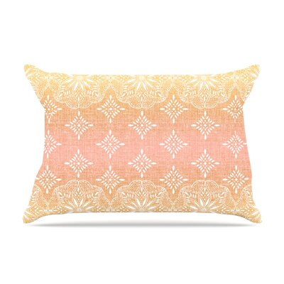 Medallion Ombre by Suzie Tremel Featherweight Pillow Sham Size: King, Color: Blush/Pink, Fabric: Woven Polyester