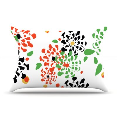 Multi Bouquet by Sonal Nathwani Featherweight Pillow Sham Size: Queen, Fabric: Woven Polyester