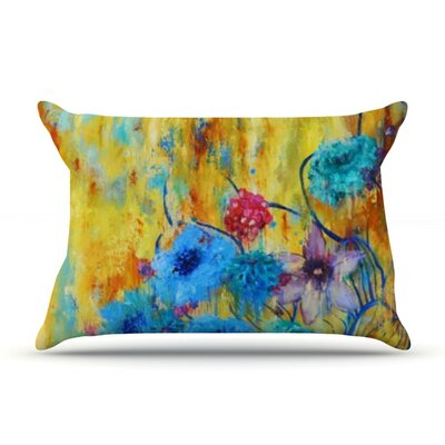 Cosmic Love Garden by Sonal Nathwani Featherweight Pillow Sham Size: King, Fabric: Woven Polyester