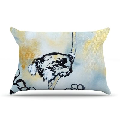 Ostrich by Sonal Nathwani Featherweight Pillow Sham Size: Queen, Fabric: Woven Polyester