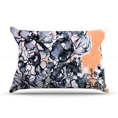 Inky Bouquet by Sonal Nathwani Featherweight Pillow Sham Size: Queen, Fabric: Woven Polyester