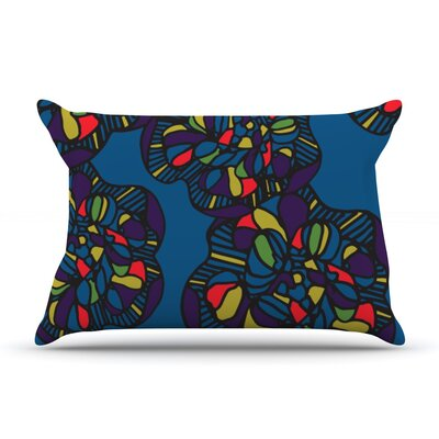 Mushroom Flower by Sonal Nathwani Featherweight Pillow Sham Size: Queen, Fabric: Woven Polyester