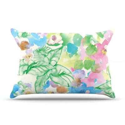 Leaf Bouquet by Sonal Nathwani Featherweight Pillow Sham Size: Queen, Fabric: Woven Polyester