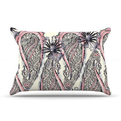 Inky Paisley Bloom by Sonal Nathwani Featherweight Pillow Sham Size: Queen, Fabric: Woven Polyester