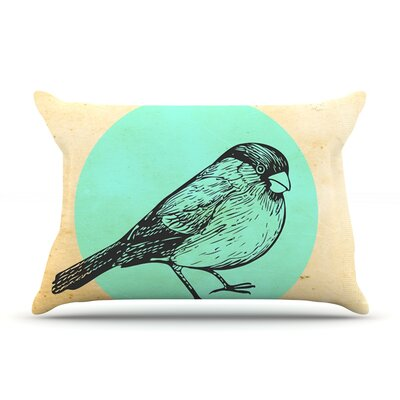 Old Paper Bird by Sreetama Ray Featherweight Pillow Sham Size: King, Fabric: Woven Polyester