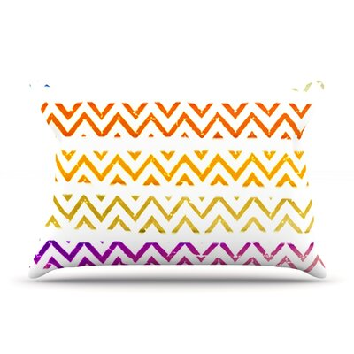 Chevron Add by Sreetama Ray Featherweight Pillow Sham Size: King, Fabric: Woven Polyester