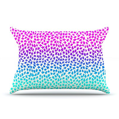 Ombre Arrows by Sreetama Ray Featherweight Pillow Sham Size: Queen, Fabric: Woven Polyester