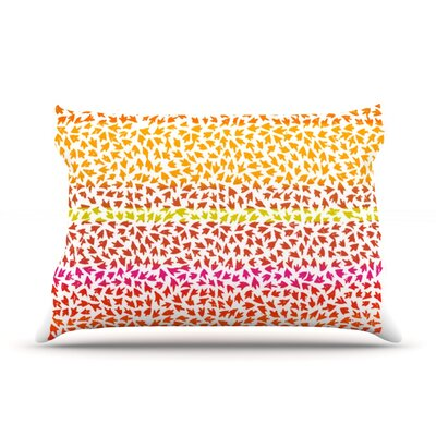 Sunset Arrows by Sreetama Ray Featherweight Pillow Sham Size: King, Fabric: Woven Polyester