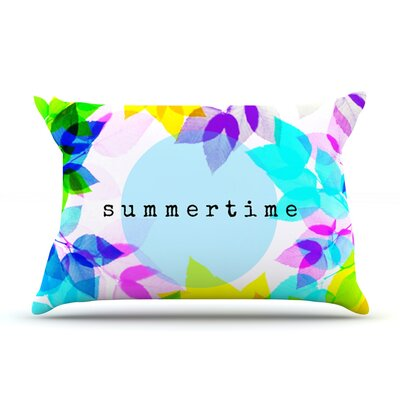 Seasons Summer by Sreetama Ray Featherweight Pillow Sham Size: Queen, Fabric: Woven Polyester