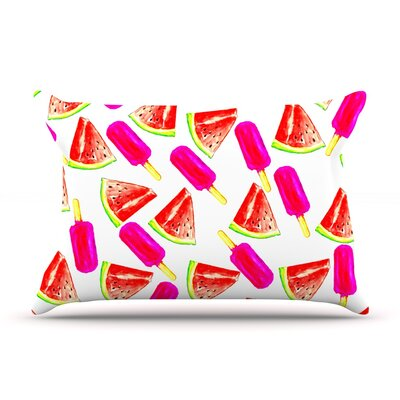 Strawberry & Watermelon by Sreetama Ray Featherweight Pillow Sham Size: King, Fabric: Woven Polyester