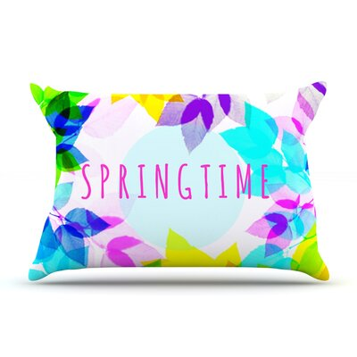 Seasons Springtime by Sreetama Ray Featherweight Pillow Sham Size: King, Fabric: Woven Polyester