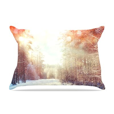 Winter Walkway by Snap Studio Featherweight Pillow Sham Size: King, Fabric: Woven Polyester
