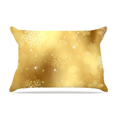Golden Radiance by Snap Studio Featherweight Pillow Sham Size: King, Fabric: Woven Polyester