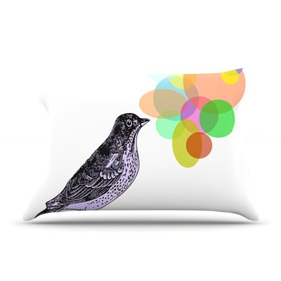 Candy Birds by Sreetama Ray Featherweight Pillow Sham Size: Queen, Fabric: Woven Polyester SR1002APS01