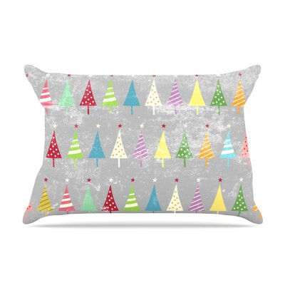 Crazy Trees Frost by Snap Studio Featherweight Pillow Sham Size: Queen, Fabric: Woven Polyester