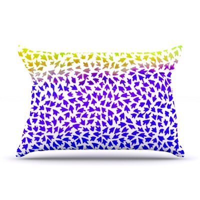 Aqua Arrows by Sreetama Ray Featherweight Pillow Sham Size: King, Fabric: Woven Polyester
