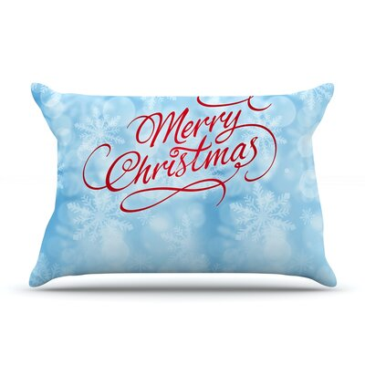 Snap Studio Merry Christmas Typography Pillow Case