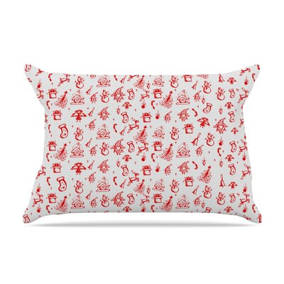 Snap Studio Miniature Christmas Pillow Case Color: Red