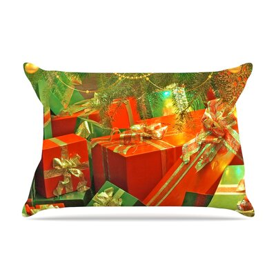 Wrapped in Cheer by Snap Studio Featherweight Pillow Sham Size: King, Fabric: Woven Polyester