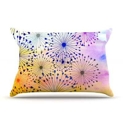 Bursting Blossoms by Sreetama Ray Featherweight Pillow Sham Size: Queen, Fabric: Woven Polyester