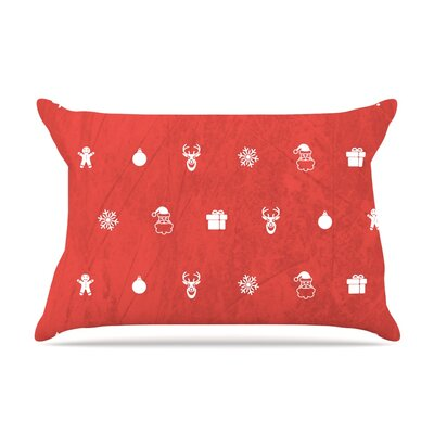 Cheery by Snap Studio Featherweight Pillow Sham Size: Queen, Color: Red, Fabric: Woven Polyester