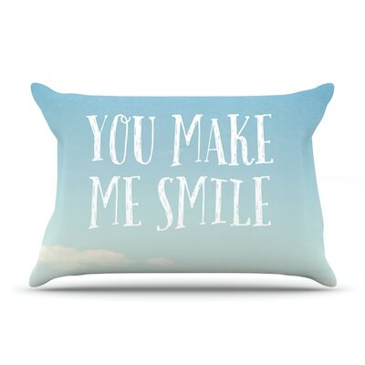 You Make Me Smile by Susannah Tucker Featherweight Pillow Sham Size: King, Fabric: Woven Polyester