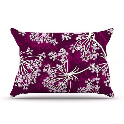 Squiggly Floral by Suzie Tremel Featherweight Pillow Sham Size: King, Fabric: Woven Polyester
