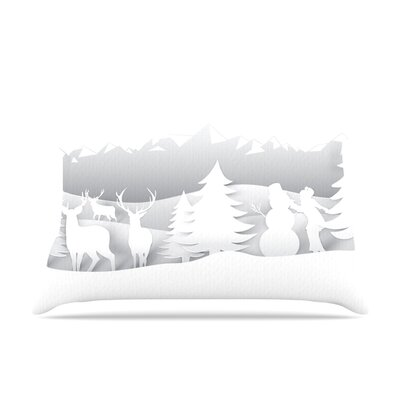 White as Snow by Snap Studio Featherweight Pillow Sham Size: King, Fabric: Woven Polyester