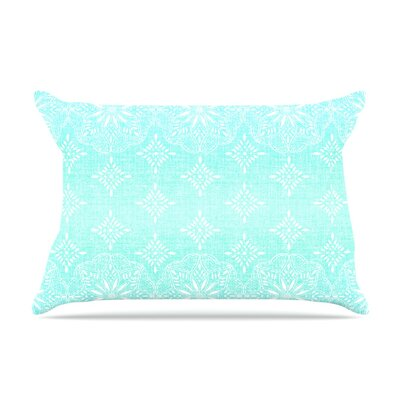 Medallion Ombre by Suzie Tremel Featherweight Pillow Sham Size: Queen, Color: Blue/Teal, Fabric: Woven Polyester