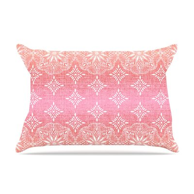 Medallion Ombre by Suzie Tremel Featherweight Pillow Sham Size: King, Color: Red/Pink, Fabric: Woven Polyester