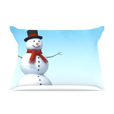 Feelin Frosty by Snap Studio Featherweight Pillow Sham Size: King, Fabric: Woven Polyester