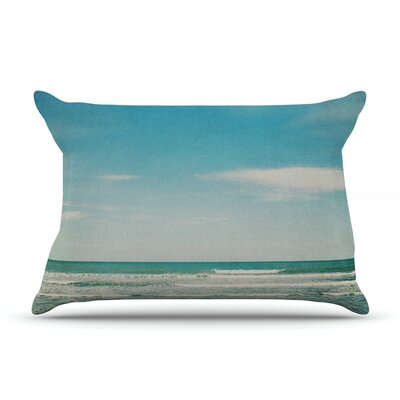 The Teal Ocean by Susannah Tucker Featherweight Pillow Sham Size: King, Fabric: Woven Polyester