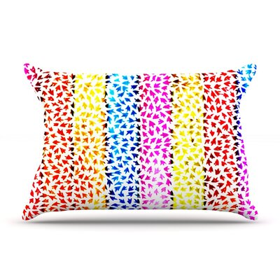 Rainbow Arrows by Sreetama Ray Featherweight Pillow Sham Size: Queen, Fabric: Woven Polyester