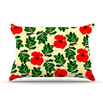 No More Peonies by Sreetama Ray Featherweight Pillow Sham Size: Queen, Fabric: Woven Polyester