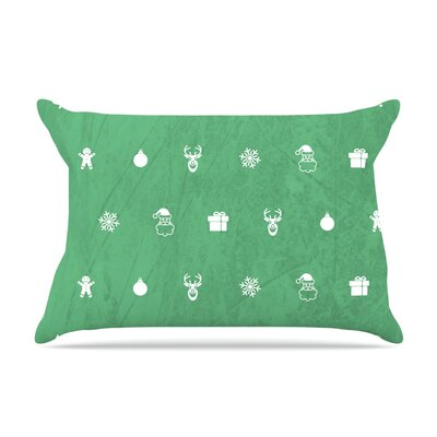 Cheery by Snap Studio Featherweight Pillow Sham Size: Queen, Color: Green, Fabric: Woven Polyester