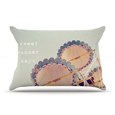 Sweet Summer Days by Susannah Tucker Featherweight Pillow Sham Size: King, Fabric: Woven Polyester