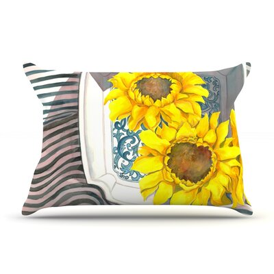 Finall Sunflower by S. Seema Z Featherweight Pillow Sham Size: Queen, Fabric: Woven Polyester