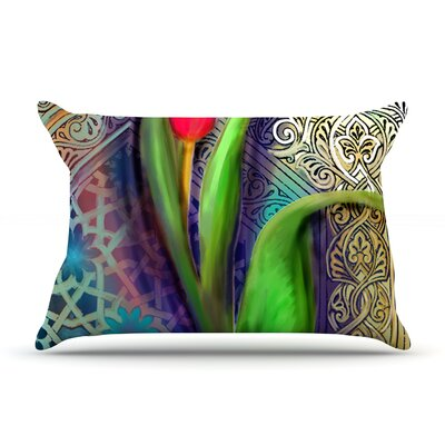 Arabesque Tulip by S. Seema Z Featherweight Pillow Sham Size: Queen, Fabric: Woven Polyester