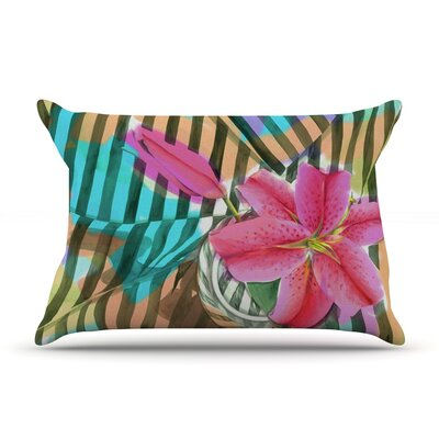 Lilly n Stripes by S. Seema Z Featherweight Pillow Sham Size: Queen, Fabric: Woven Polyester