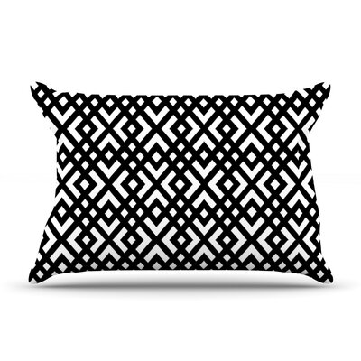 Dijagonala by Trebam Featherweight Pillow Sham Size: Queen, Fabric: Woven Polyester