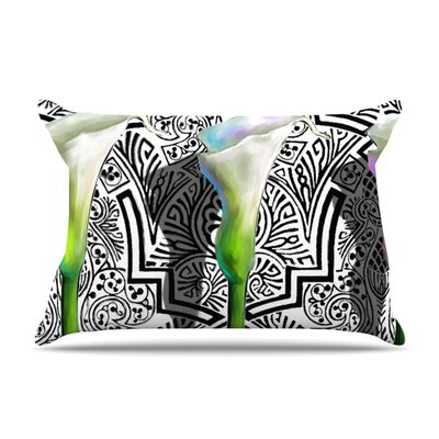 Three Lily by S. Seema Z Featherweight Pillow Sham Size: Queen, Fabric: Woven Polyester