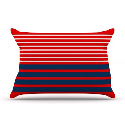 Nauticki Red by Trebam Featherweight Pillow Sham Size: King, Fabric: Woven Polyester